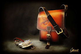 Custom Leather Handmade Fly Fishing Bag