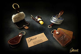 Custom Leather Handmade Fly Fishing Amadou