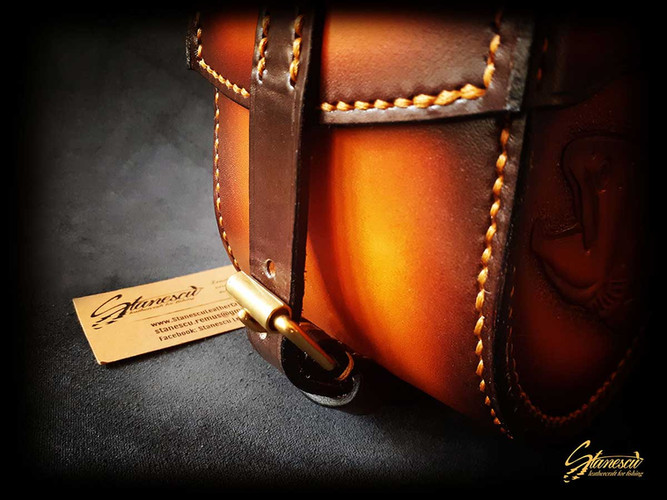 Custom Leather Handmade Fly Fishing Hardy Style Reel Case