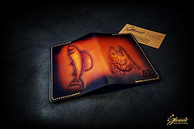 Custom Leather Handmade Fly Fishing License Holder