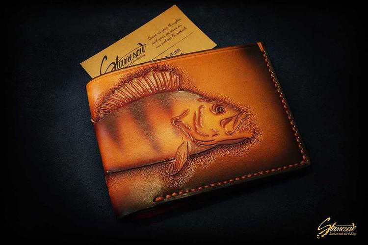 Custom Leather Handmade Fly Fishing Wallet Perch