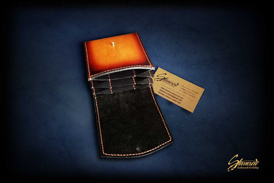 Custom Leather Handmade Fly Fishing Leader Wallet