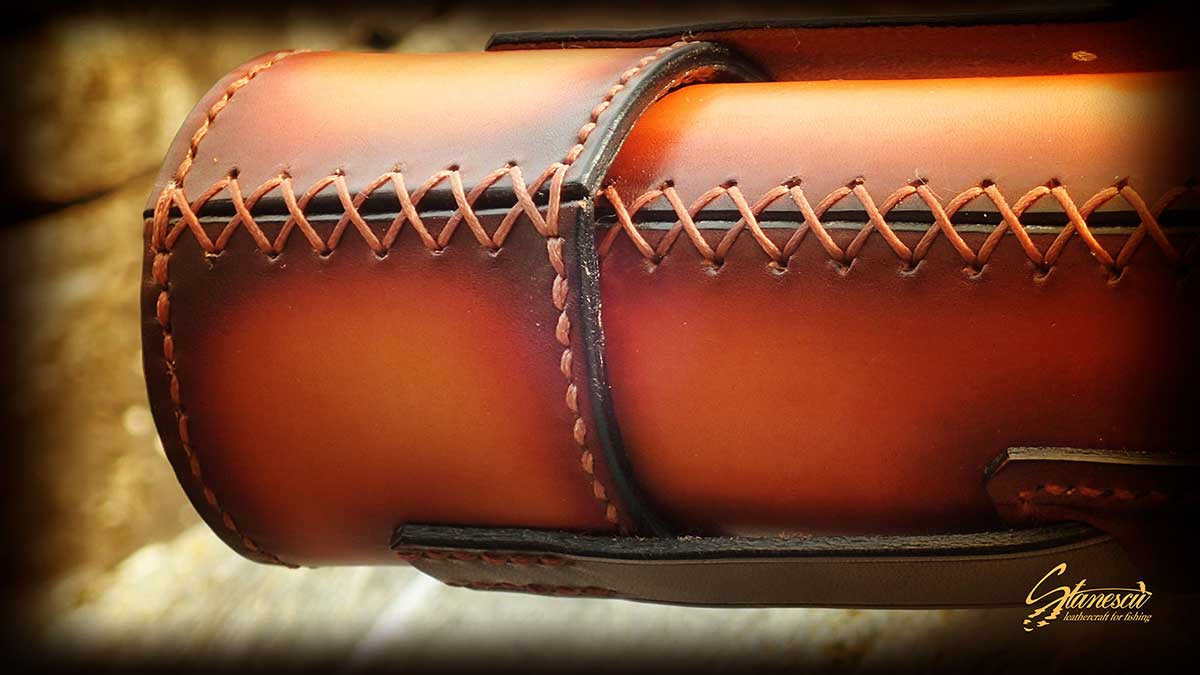 Custom Leather Handmade Fly Fishing Rod Case