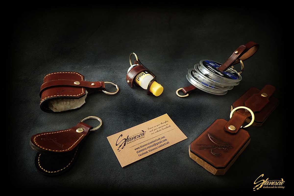 Custom Leather Handmade Fly Fishing Amadou