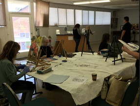 Pastel sessions are fun and popular! Rebecca Haigh, our facilitator, is a very knowledgeable artist