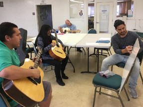 Come jam and have some fun with Jose Morales, our new guitar session facilitator, Fridays from 1:30