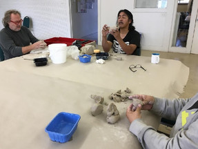 Participants have been having a great time in the clay session!