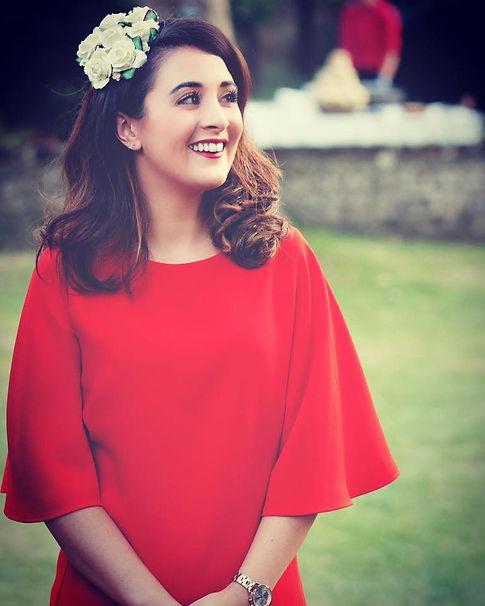 Claire Austin, award winning brida hair acessories designer from Devon