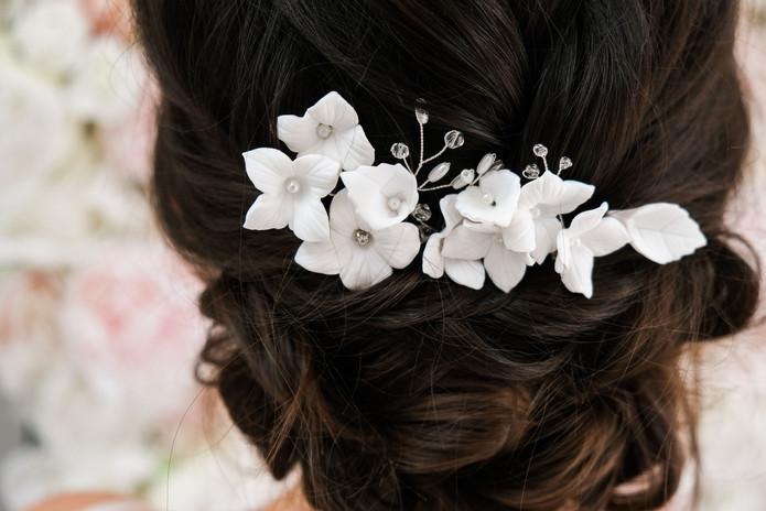 Silver Flower Hair Pins
