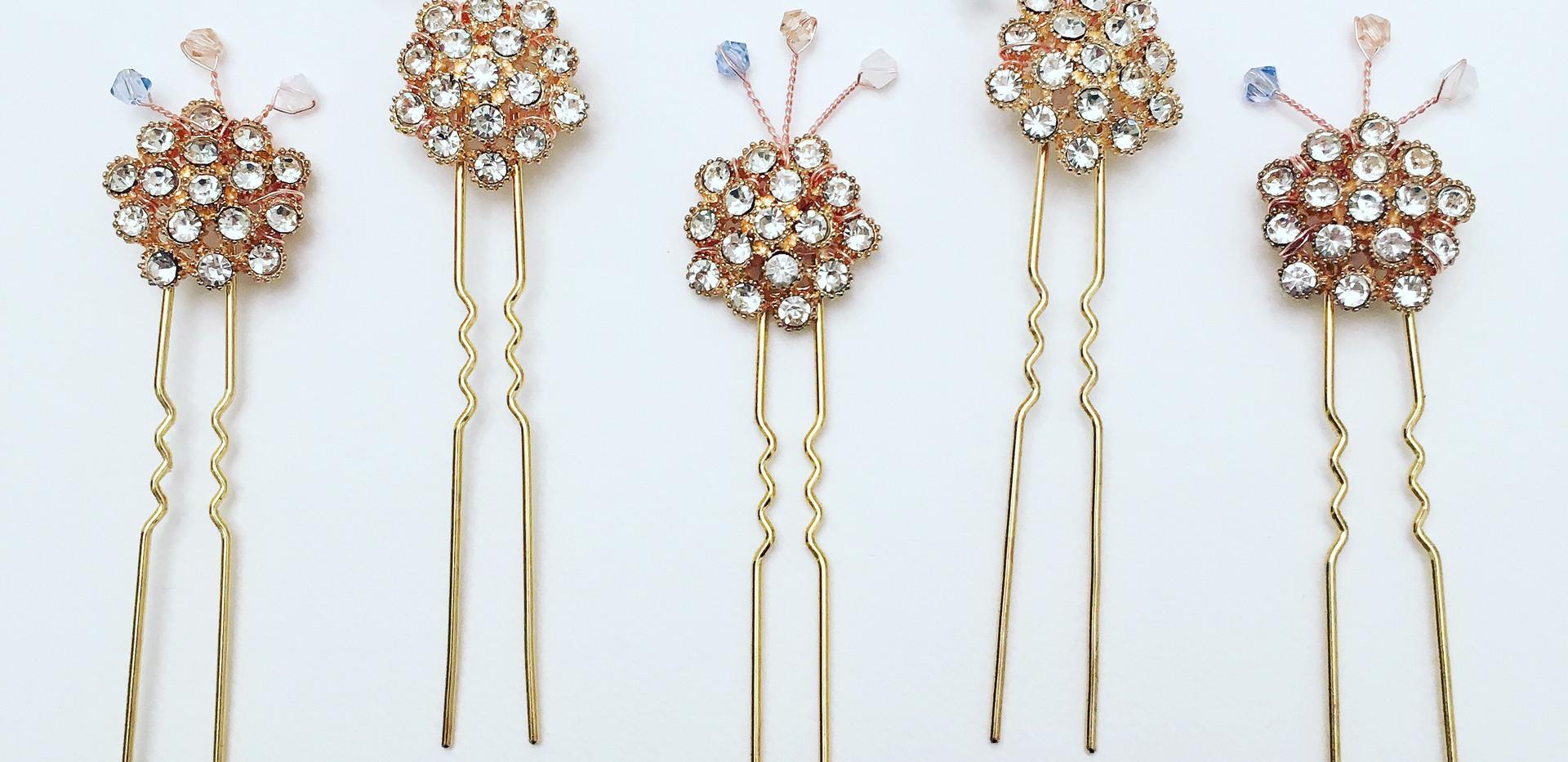 Gold Hair Pins
