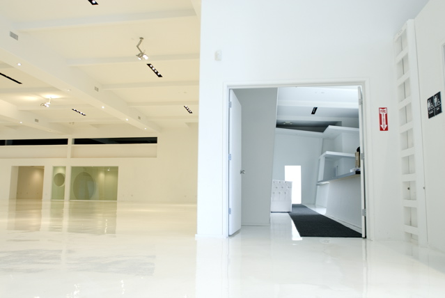Stage 1, view into Stage 5 (Kitchen)