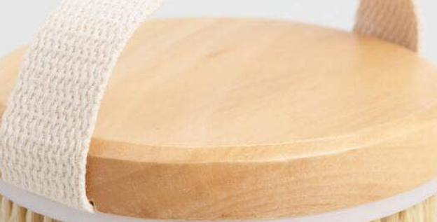 Bamboo Natural Bristle Dry Brush