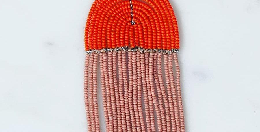 Pink and Orange Naapu Neckalce