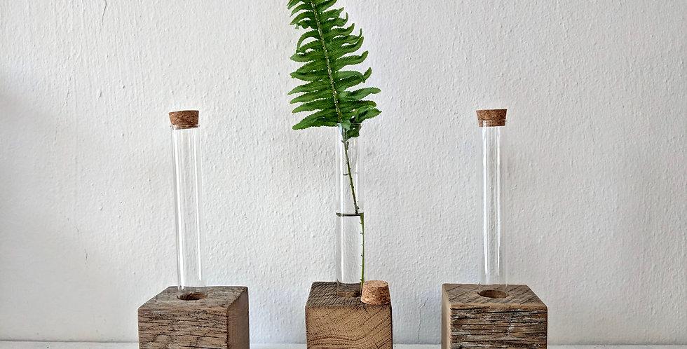 Single Vase with Wood Base