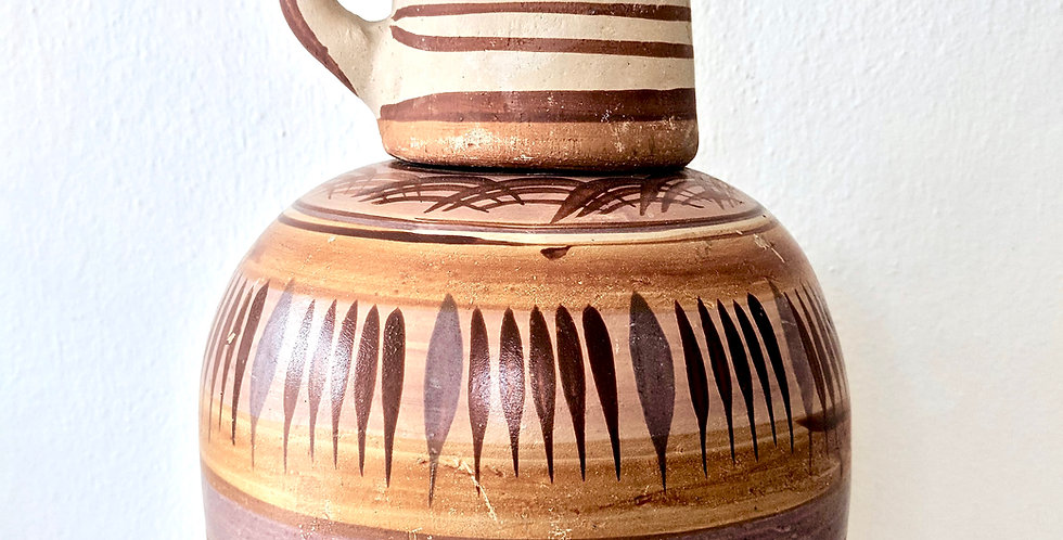 Authentic Mexican Water jug with Drinking cup