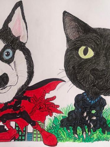 Zara Batwoman and Shadow Black Panther
