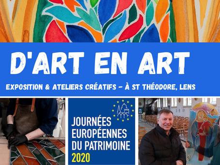 [Journées du Patrimoine à Lens] Les 19-20 septembre : exposition & ateliers créatifs à St Théodore !