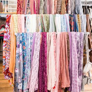 Schals in allen Farben