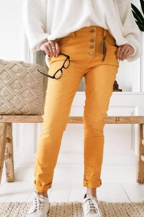 Perfekt Jeans von ByPias  Farbe mango