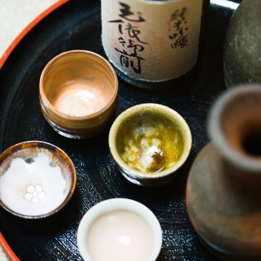 Expo Chawan en Tea Service in Japanse Tuin