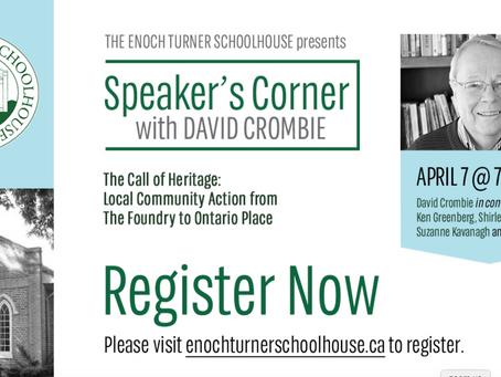 Speaker's Corner with David Crombie