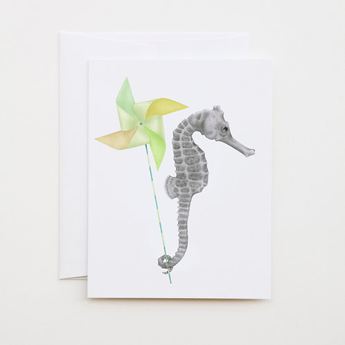 Note Card: GAMBOL AZIMUTH Long Snout Seahorse