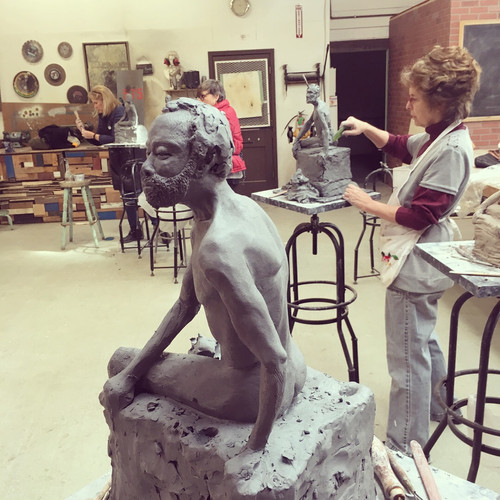Sculpting from a live model