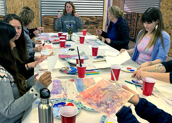 painting workshop for Ladies Art Night