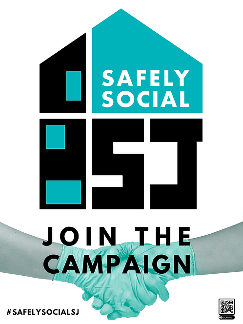 Safely Social Campaign Poster