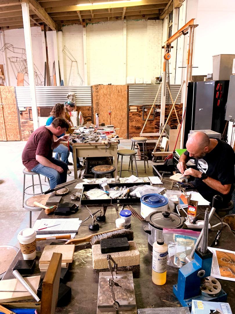 Jewelry Class in the Sculpture Shop
