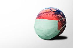 masked globe coronavirus