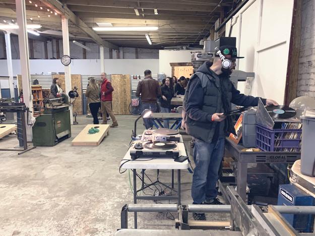 party in the sculpture studio