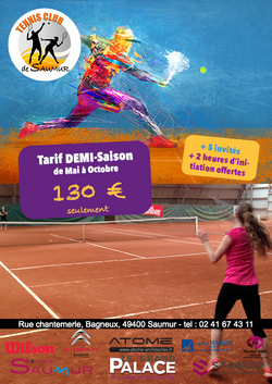 FLYER TENNIS Club de Saumur