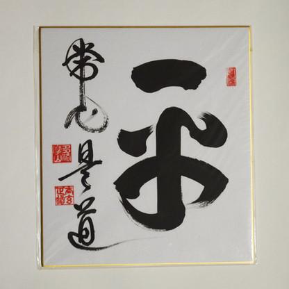 Hei Jo Shin, Kore Do.  The Everyday Mind, That is the Path.   La Mente de Cada Día, ese es el Camino.     24 x 27 cm  Disponible