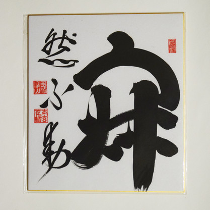Jaku Nen Fu Do.  Serene Mind is Immovable.   La mente Serena es inamovible.     24 x 27 cm  Esta Caligría ya ha sido adquirida.