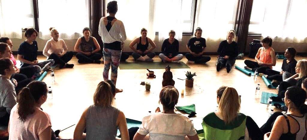Yoga and meditation with Joy