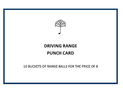 Large Driving Range Punch Card