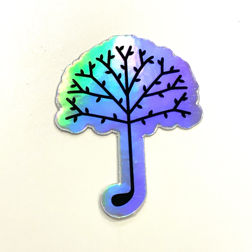 Holographic Iron Tree Sticker