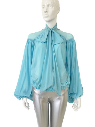 Batwing Bow Blouse