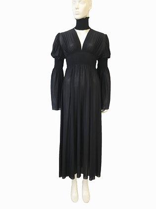 V-Neck Ruche Dress