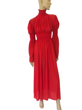 Long Ruche Dress