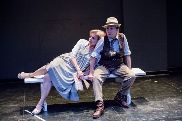 Liubov with Gayev, Act 2 of Cherry Orchard