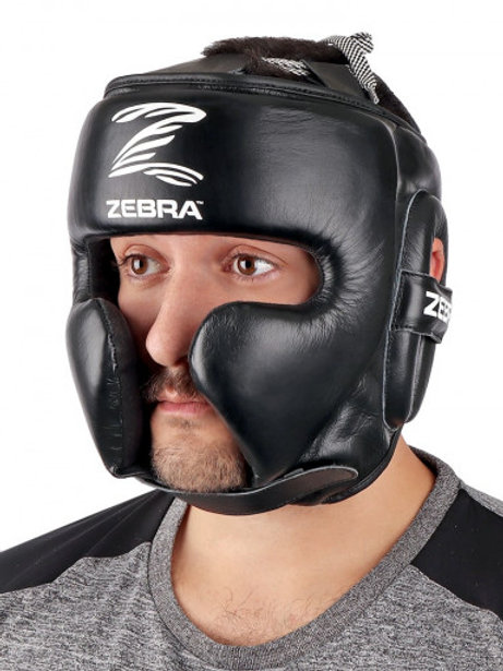 (PRE-ORDER)HEAD GUARD, ZEBRA PRO SPARRING, LEATHER
