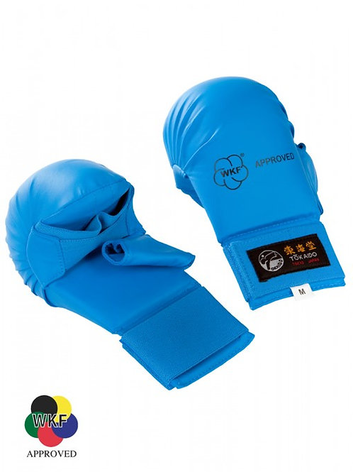 TOKAIDO KARATE WKF APPROVED GLOVES WITH THUMB (BLUE)