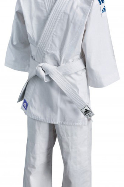 Adidas Judo club uniforms - J350 ( solar blue stripes) size 110cm -160cm