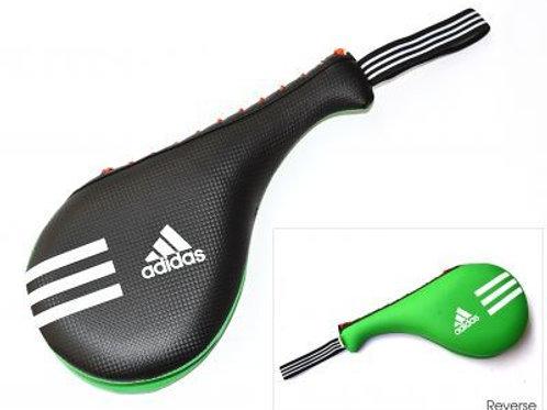 Adidas Kids Double Kick Pad - Black/Green