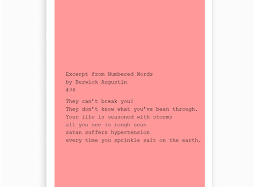 #34 Excerpt from Numbered Words