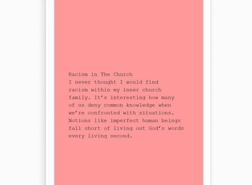 Racism in The Church