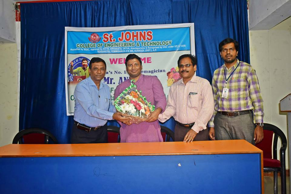 Special workshop by Sri. Anil Nair