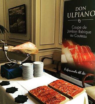 Découpe de jambon au couteau, cortador Don Ulpiano